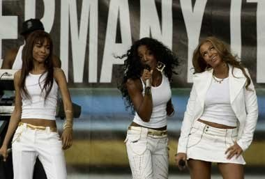 Destiny's Child podczas koncertu w Filadelfii /AFP