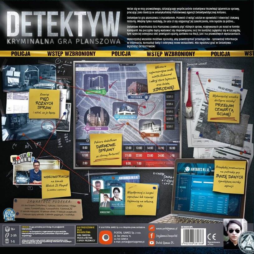 Detektyw: Kryminalna Gra Planszowa /materiały prasowe