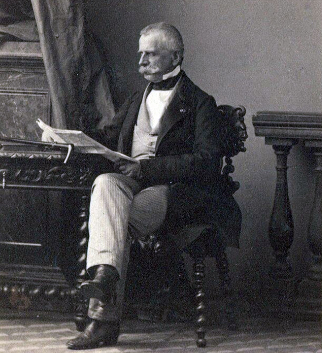 Dezydery Chłapowski na fotografii z ok. 1860 r. /Biblioteka Narodowa