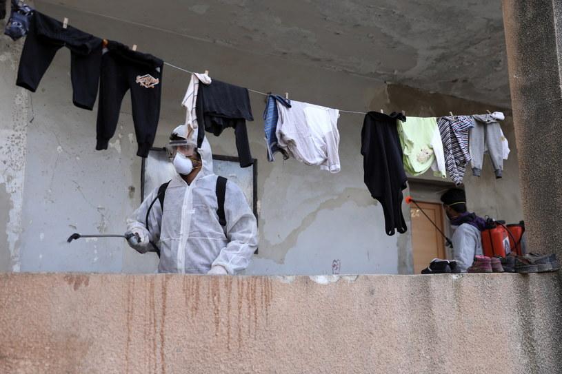 Dezynfekcja w Idlibie /YAHYA NEMAH /PAP/EPA