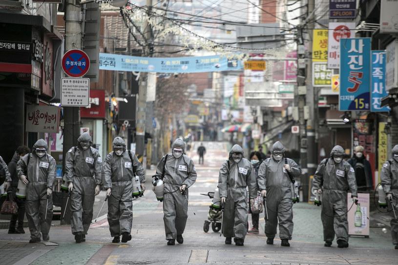 Dezynfekcja w Korei Południowej, zdj. ilustracyjne /Woohae Cho /Getty Images