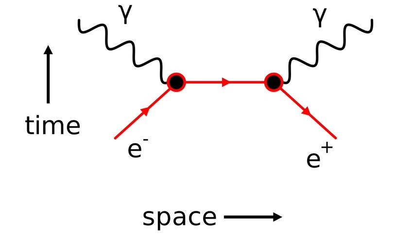 Diagram Feynmana ukazujący anihilację elektronu/pozytonu /materiały prasowe