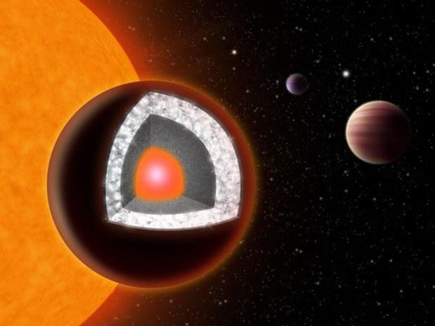 Diamentowa planeta - cenne źródło kosmicznych surowców /materiały prasowe