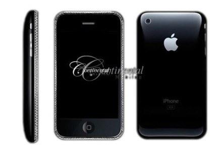Diamentowy iPhone 3G Continental to nowy lider zestawienia. Niestety brakuje komórek najtańszych /materiały prasowe