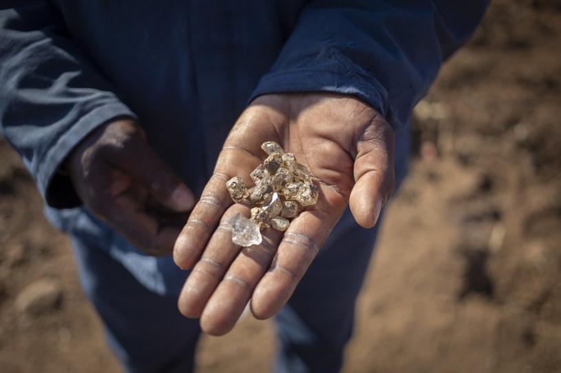 """""""Diamenty"""" - czyli kwarc z RPA /Kim Ludbrook  /PAP/EPA"""