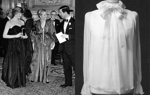 Diana i Książe Karol na balu w Goldsmith's Hall, po prawej szyfonowa bluzka, również na sprzedaż  /Splashnews