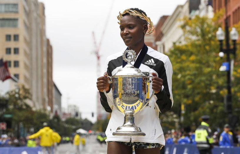 Diana Kipyogei uhonorowana po maratonie w Bostonie /CJ GUNTHER /PAP/EPA