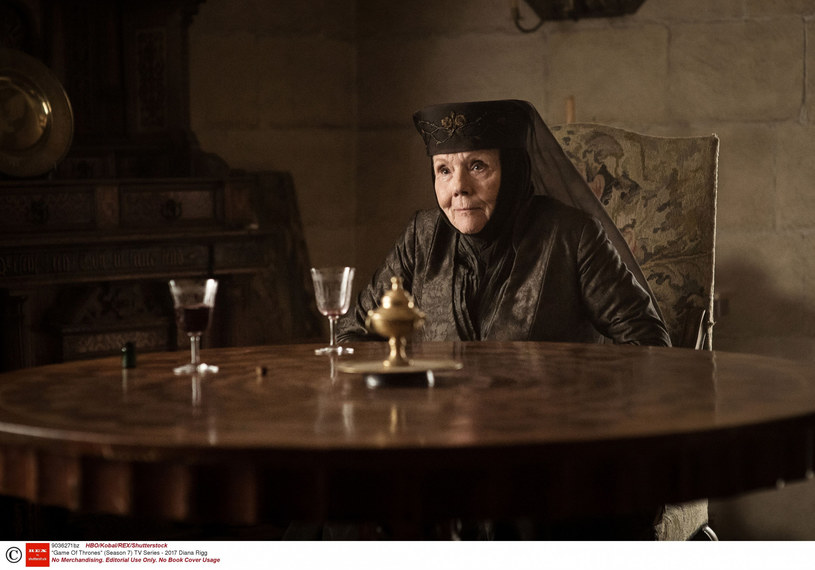 "Diana Rigg w serialu ""Gra o tron"" /HBO/Kobal/REX/Shutterstock /East News"