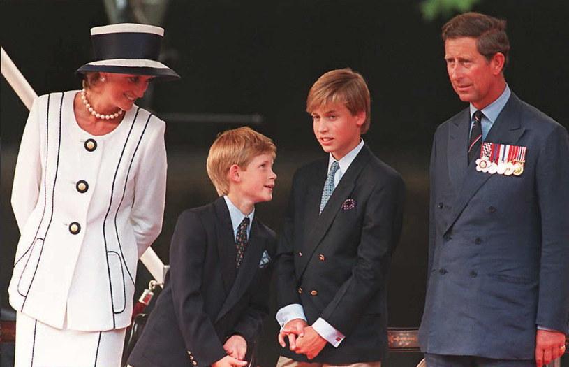 Diana z mężem i synami, 1995 /AFP