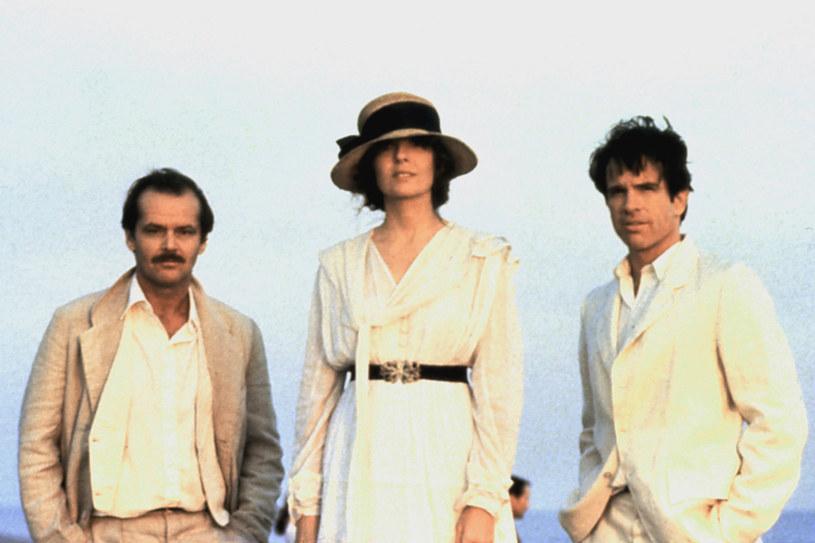 """Diane Keaton w """"Czerwonych"""" w towarzystwie Jacka Nicholsona (L) i Warrena Beatty'ego (P) /AKPA"""
