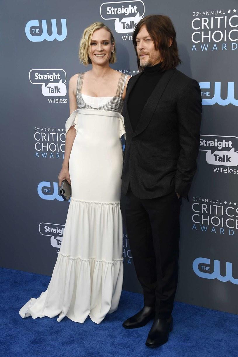 Diane Kruger i Norman Reedus na gali Critics' Choice Awards, styczeń 2018 /AFP