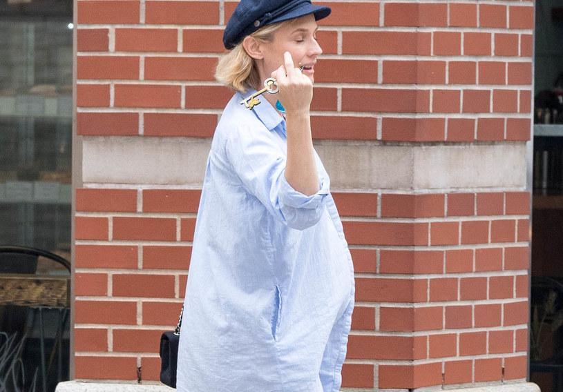 Diane Kruger już nie ukryje ciąży /Agencja FORUM