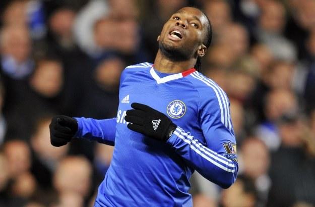 Didier Drogba w ostatnim meczu z Sunderlandem. /AFP