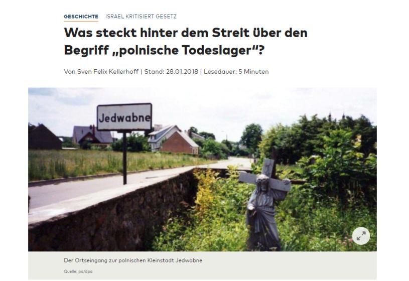 """""""Die Welt"""" o zamieszaniu wokół """"polskich obozów"""" /"""