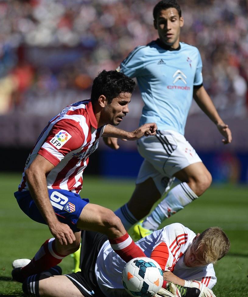Diego Costa, gwiazda Atletico Madryt w meczu z Celtą Vigo /AFP