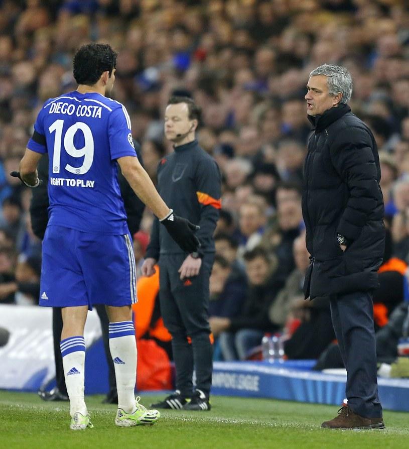 Diego Costa i Jose Mourinho /AFP