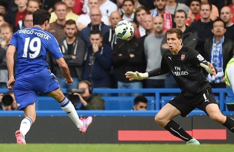 Diego Costa strzela gola na 2-0 /PAP/EPA
