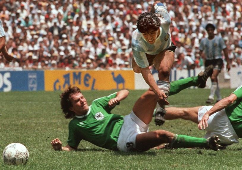 Diego Maradona i Lothar Matthaeus w finale meksykańskiego Mundialu '86 /AFP
