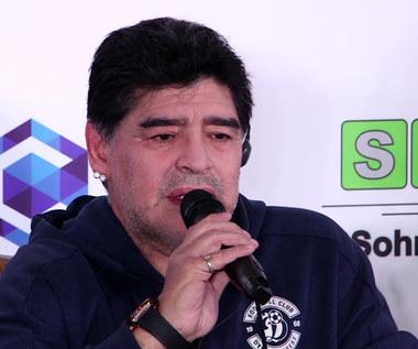 Diego Maradona na prezentacji w Brześciu. Wideo