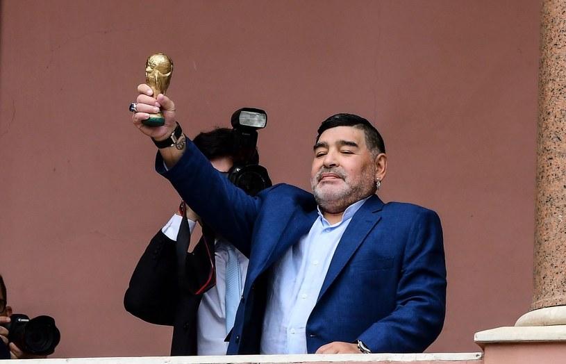 Diego Maradona podczas wizyty w Casa Rosada /AFP