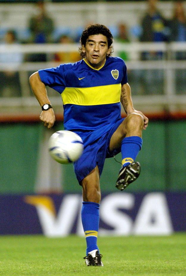 Diego Maradona w 2005 roku /CEZARO DE LUCA  /PAP/EPA