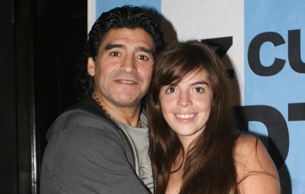 Diego Maradona z córką  /Splashnews