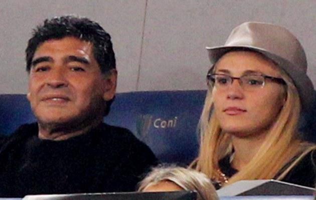 Diego Maradona z kochanką /- /Getty Images