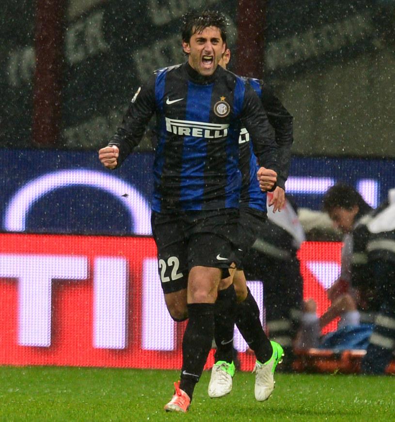 Diego Milito, piłkarz Interu Mediolan /AFP