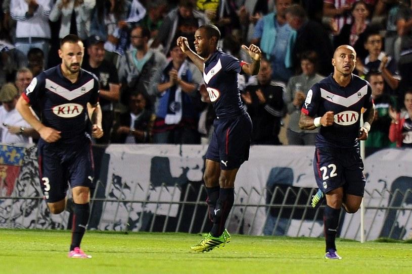 Diego Rolan cieszy się z gola dla Bordeaux w meczu z Monaco /AFP