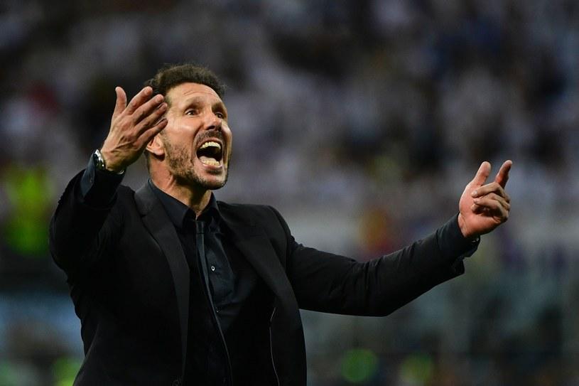 Diego Simeone w trakcie finału Ligi Mistrzów /AFP