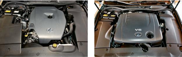 Diesel (z lewej) tylko pozornie jest oszczędnym wyborem. Okazuje się drogi w serwisowaniu. Optymalny wybór to odmiana benzynowa 2.5 V6 (z prawej). Z tego powodu jest droższa od diesla. /Motor