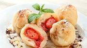 Dieta bezglutenowa: Knedle serowe z truskawkami