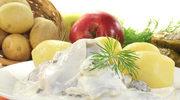 Dieta bezglutenowa: Śledziki z jabłkiem i śmietaną