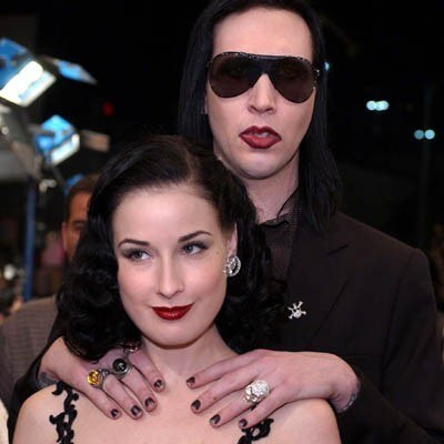 Dieta Von Teese i Marilyn Manson /AFP