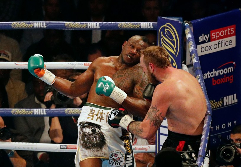 Dillian Whyte w pojedynku z Robertem Heleniusem /AFP