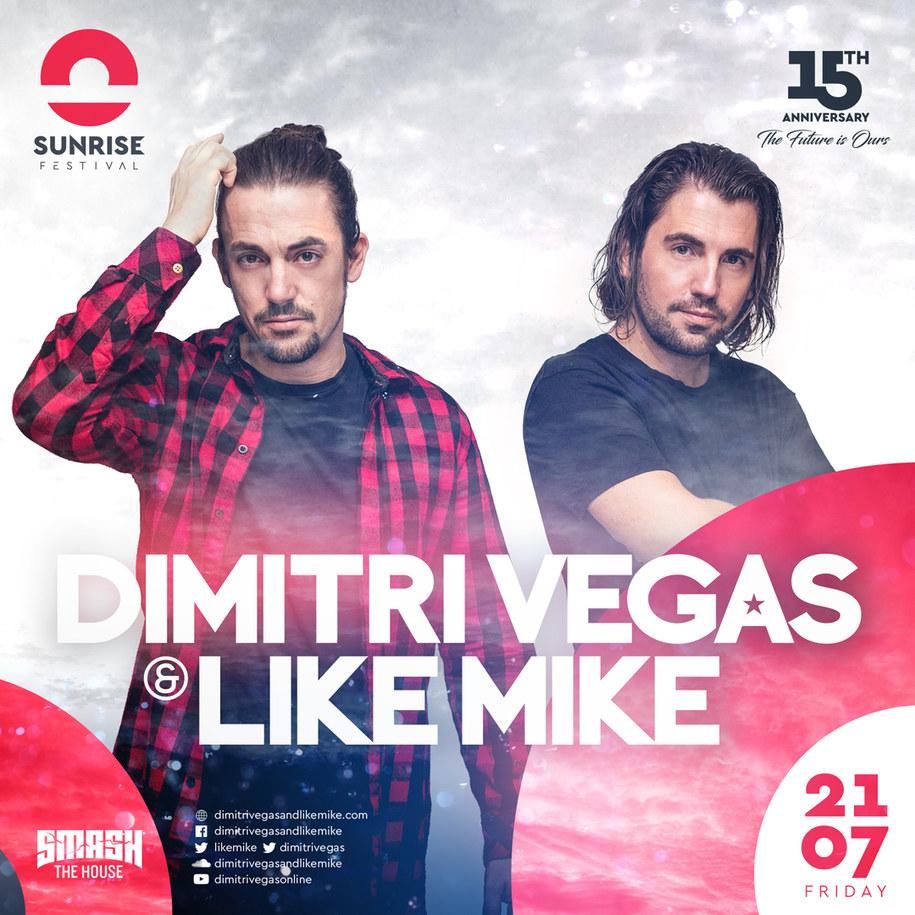 Dimitri Vegas & Like Mike gwiazdami Sunrise Festival 2017! /Materiały prasowe