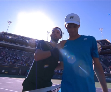 Dimitrow - Hurkacz: ATP Indian Wells. SKRÓT. WIDEO (Polsat Sport)