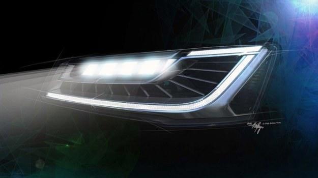 Diody odpowiadające za światła drogowe będą pogrupowane w moduły po 5 sztuk. /Audi