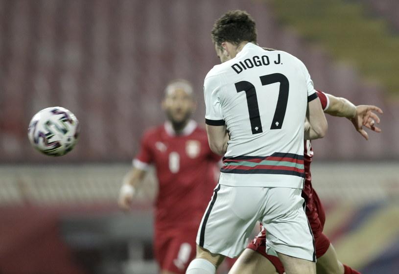 Diogo Jota pewnie umieścił piłkę w siatce /Andrej Cukić /PAP/EPA