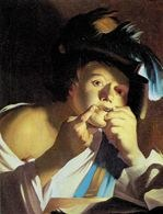 Dirck van Baburen, Chłopiec z drumlą, 1621 /Encyklopedia Internautica