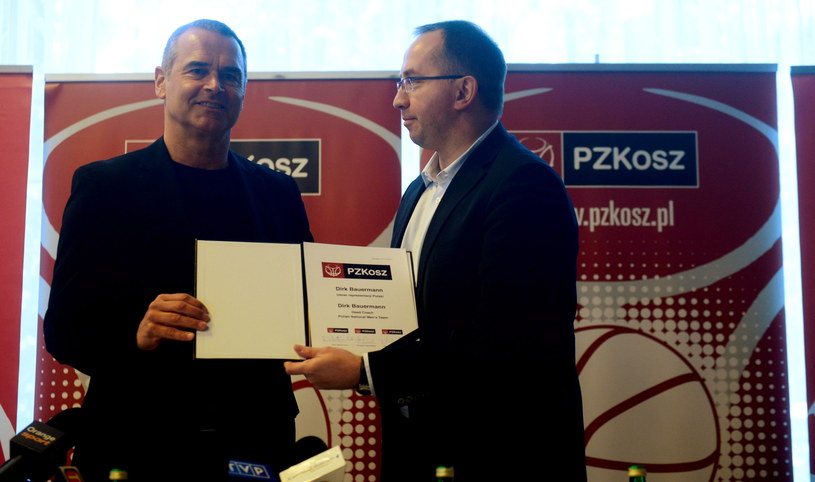 Dirk Bauermann (L) i Grzegorz Bachański /Bartłomiej Zborowski /PAP