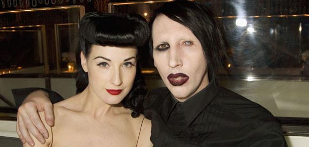 Dita Von Teese i Marilyn Manson - fot. Astrid Stawiarz  /Getty Images/Flash Press Media