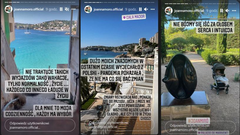 Dla Joanny Moro wyjazdy zagraniczne to normalność /Screeny z profilu /www.instagram.com/joannamoro.official /Instagram