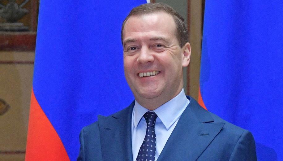 Dmitrij Miedwiediew /ALEXANDER ASTAFYEV / SPUTNIK / GOVERNMENT PRESS SERVICE POOL /PAP/EPA