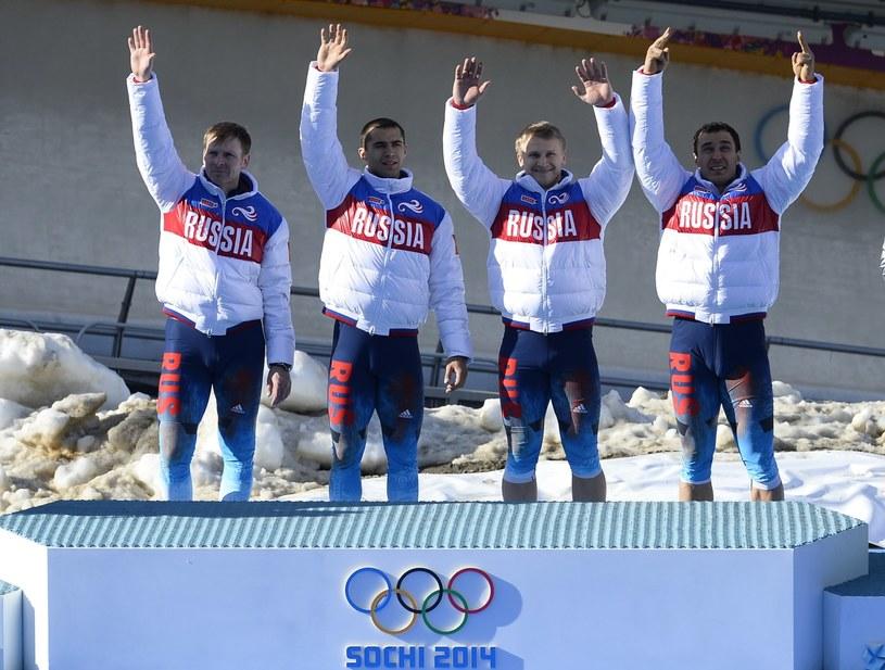 Dmitrij Trunienkow (drugi od prawej) /AFP