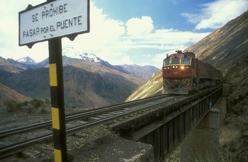 Do 2006 roku kolej transandyjska była najwyżej położoną linią kolejową na świecie /Maciej Biernacki /Agencja FORUM