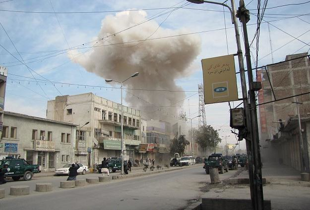 Do ataku na bank w Dżalalabadzie natychmiast przyznali się talibowie /AFP