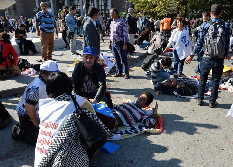 Do eksplozji doszło w pobliżu dworca kolejowego w Ankarze /AFP