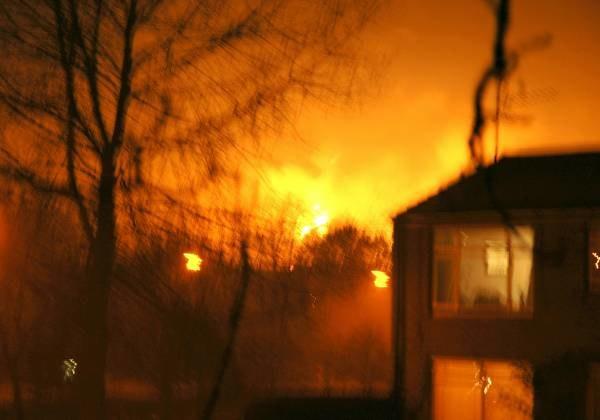 Do eksplozji doszło w składach paliw Bunsfield /AFP