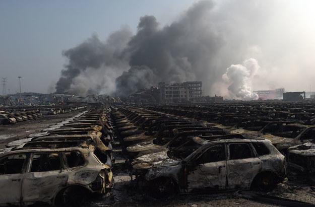 Do eksplozji doszło w składzie materiałów wybuchowych /AFP